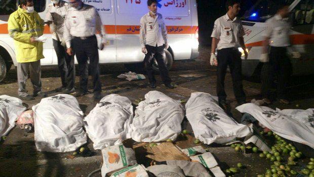 ۶ کشته و ۶ مجروح حاصل تصادف دو خودور در محور مسجدسلیمان – اهواز
