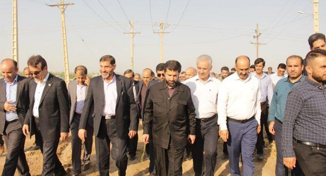 گزارش تصویری عملیات اجرایی احداث سه ایستگاه برق در شوشتر و گتوند با حضور استاندار خوزستان