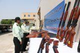 گزارش تصویری خوزپرس از رونمایی از کشفیات سلاح های غیرمجاز در خوزستان