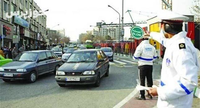 مراحل جابجایی خودروهای سنگین مرکز شهر شوشتر در حال اجراست