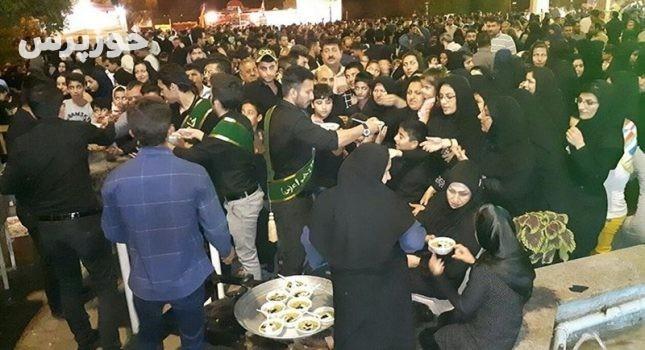 بیش از ۲۰ هزار نفر زائر اربعین در موکب نور الزهرا (س) اندیمشک پذیرایی شدند