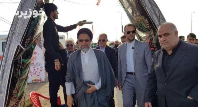 وزیر اطلاعات از گذرگاه مرزی شلمچه در خوزستان دیدن کرد