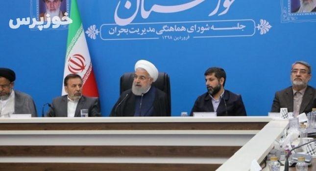 قدردانی رئیس جمهور از استاندار خوزستان در مدیریت بحران سیل