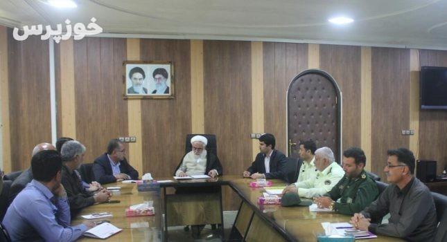 جلسه پیشگیری از سرقت در شهرستان مسجدسلیمان برگزار شد