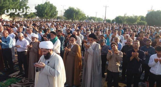 گزارش تصویری مراسم باشکوه نمازه عید سعید فطر در شهر گتوند
