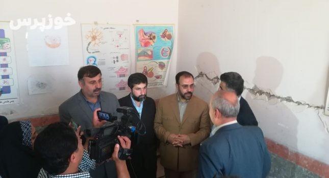 جبران خسارت زلزله مسجدسلیمان با جدیت از سوی دولت در دست پیگیری است