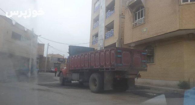 راه اندازی پارکینگ ماشین الات سنگین در شوشتر عزم جدی می خواهد+تصویر