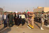 گزارش تصویری رژه هفته دفاع مقدس در شهرستان شوشتر با حضور مسئولان