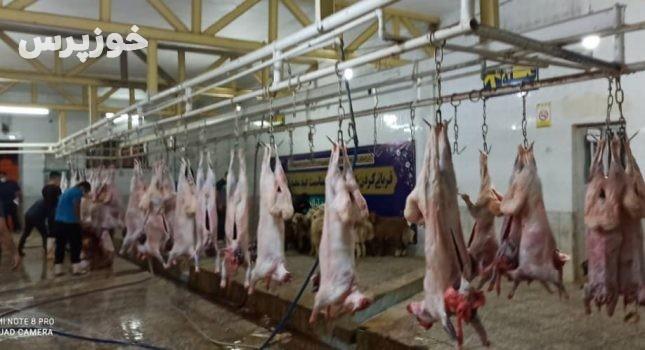 ۱۵۲ راس گوسفند در اندیمشک قربانی شد