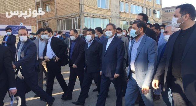 بزرگترین کارخانه کلرزنی ایران با حضور معاون اول رییس جمهور در شوشتر افتتاح شد+ تصاویر