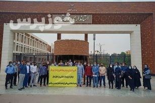 نیروهای شرکتی سازمان جهادکشاورزی خوزستان در مقابل استانداری خوزستان اعتراض کردند