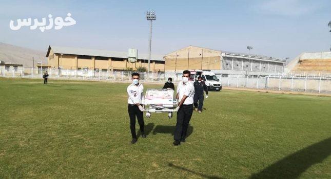 انتقال هوایی نوزاد یک روزه نارس به بیمارستان ابوذر