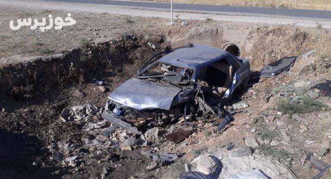 سه مصدوم حاصل سانحه رانندگی در جاده ایذه به پیان