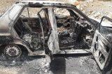آتش سوزی خودروی معلمان عشایری ایذه در روز معلم