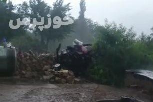 بارش باران در روستای شیوند + فیلم