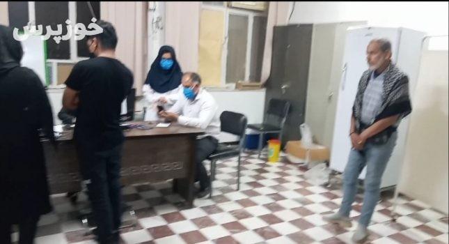 مردم آغاجاری واکسن بزنند