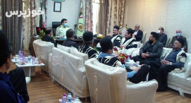 نشست فرمانده انتظامی مسجدسلیمان با سران طوایف،معتمدین و ریش سفیدان